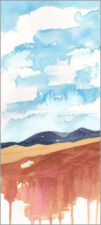 Mingus #89. 5.5 x 12 in. watercolor on Arches 140 lb. cold pressed paper. © 2018 Sheila Delgado.