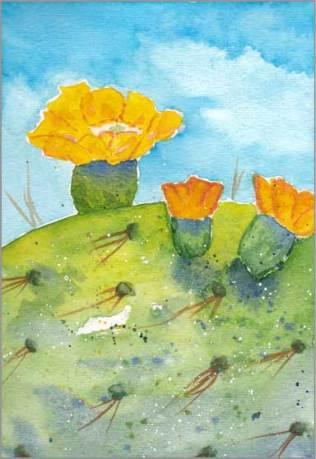 #7 WWM. 5.5 x 8 in. watercolor on Strathmore 140 lb. cold pressed paper. © 2018 Sheila Delgado.
