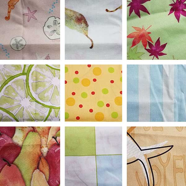 Small Spoonflower Fabric Sampling, SMD.