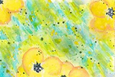 Day 10, 2.5 x 3.5 watercolor on paper. © 2020 Sheila Delgado.