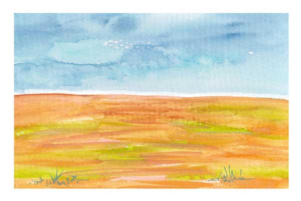 Day 12, 4 x 6, watercolor on paper. © 2020 Sheila Delgado.