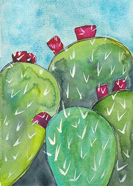 Day 18, 5 x 7, watercolor on paper. © 2020 Sheila Delgado.