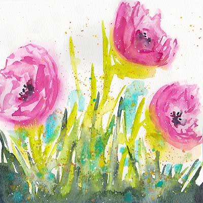 Day 2, 8x8 watercolor on paper. © 2020 Sheila Delgado.