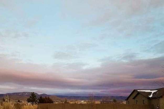 Winter Sunset 2-2-21. © 2021 Sheila Delgado.