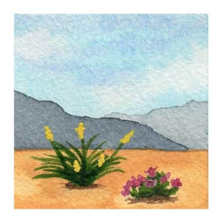Day 10, WWM, 2 x 2 inch watercolor on Arches 140 lb. cold pressed paper. © 2021 Sheila Delgado.