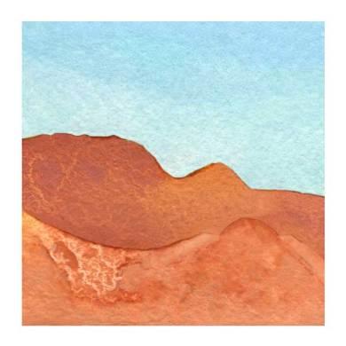 Day 22, WWM, 2 x 2 inch watercolor on Arches 140 lb. cold pressed paper. © 2021 Sheila Delgado.
