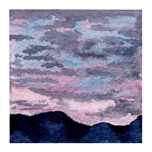 Day 3, WWM, 2 x 2 inch watercolor on Arches 140 lb. cold pressed paper. © 2021 Sheila Delgado.