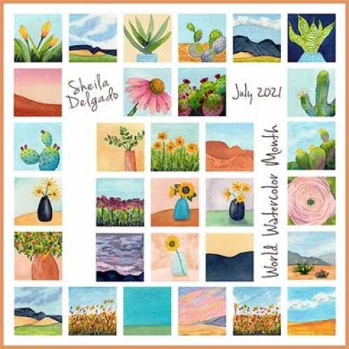 World Watercolor Month July 2021 © 2021 Sheila Delgado.
