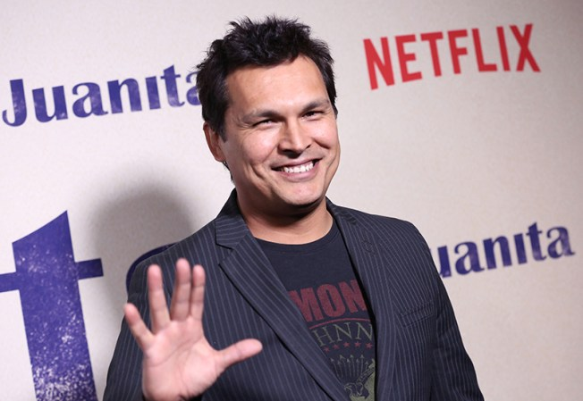 """NEW YORK, NEW YORK - MARCH 07: Adam Beach attends """"Juanita"""" Special Screening on March 07, 2019 in New York City. (Photo by Monica Schipper/Getty Images for Netflix)"""