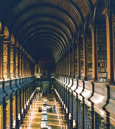And another dream, the Trinity College Library in Dublin