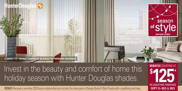 Hunter Douglas Rebate Sale on Silhouettes