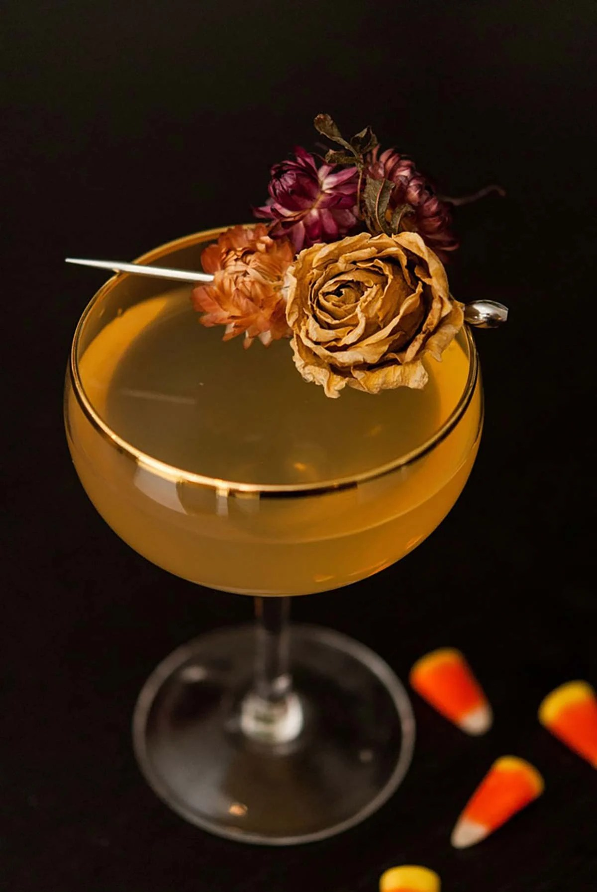 the candy corn cocktail