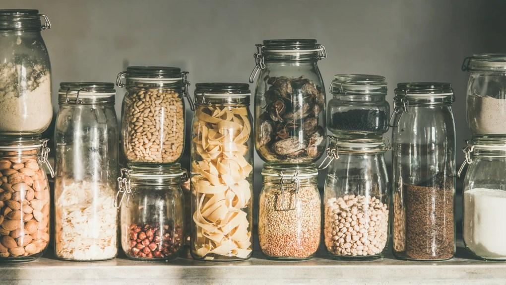 storing food in jars