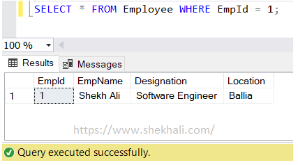 image-equal operator in SQL