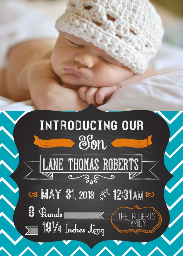 Lane – Birth Announcement