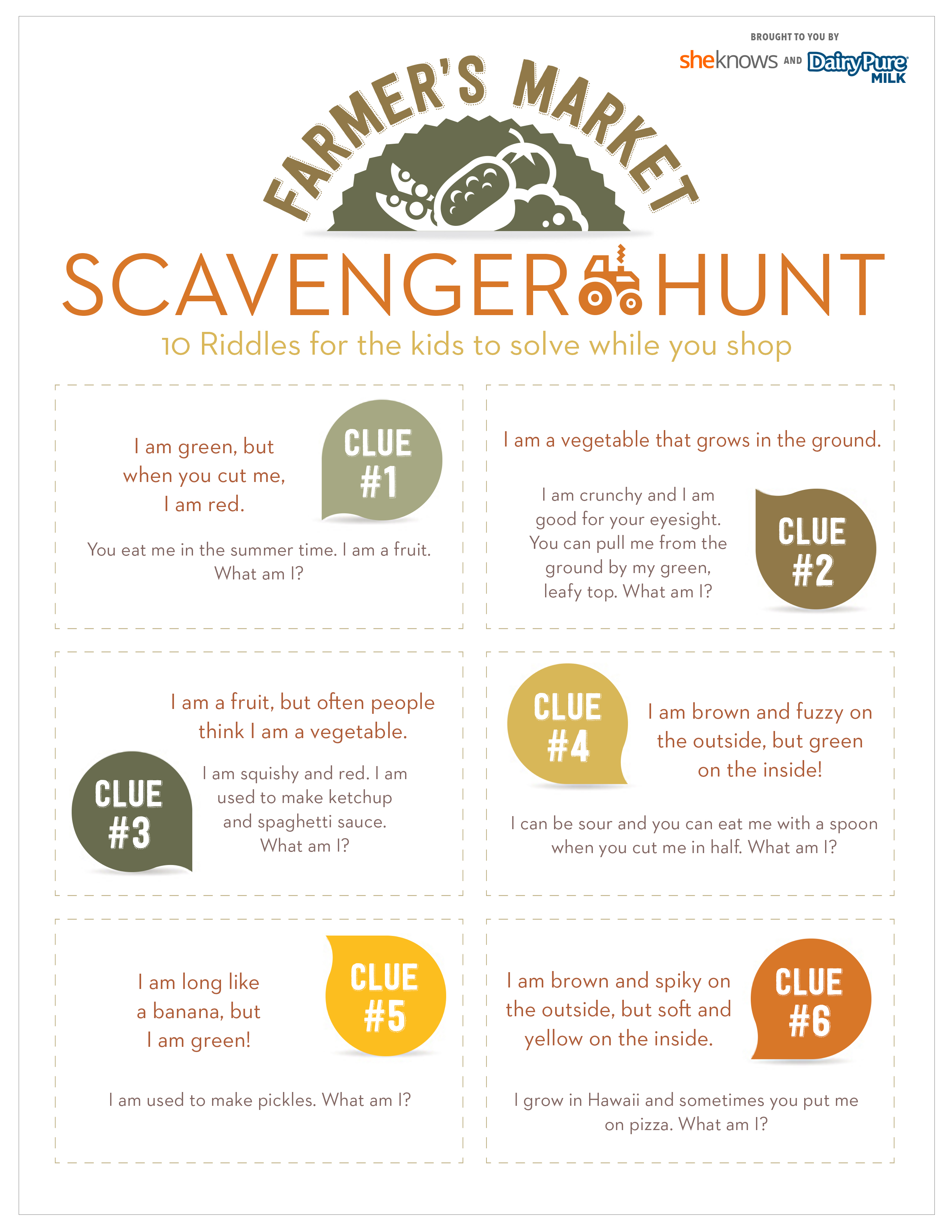 Farmers Market Scavenger Hunt Keeps Kids Busy While You