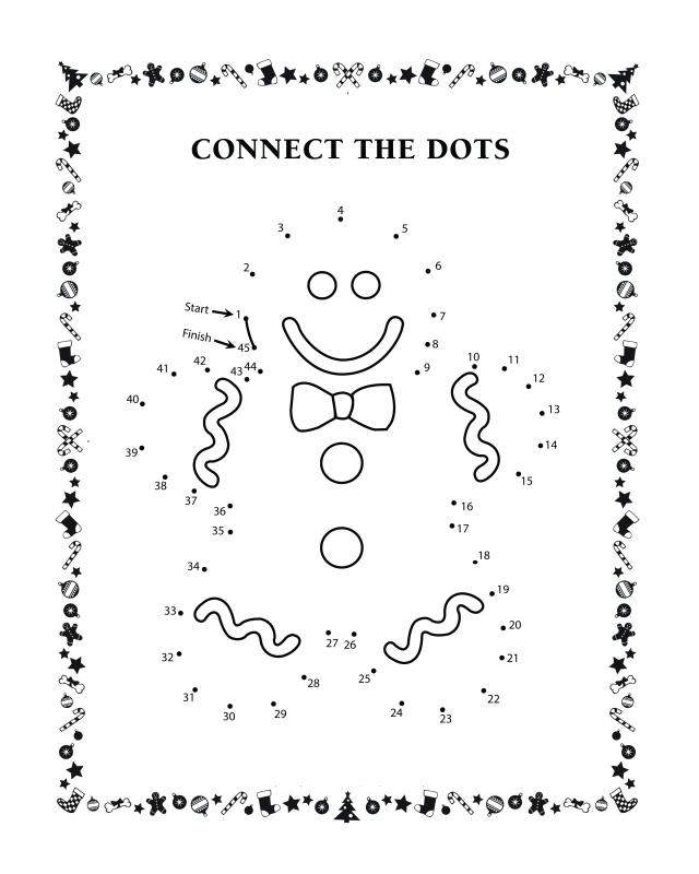 Connect the dots activity sheets