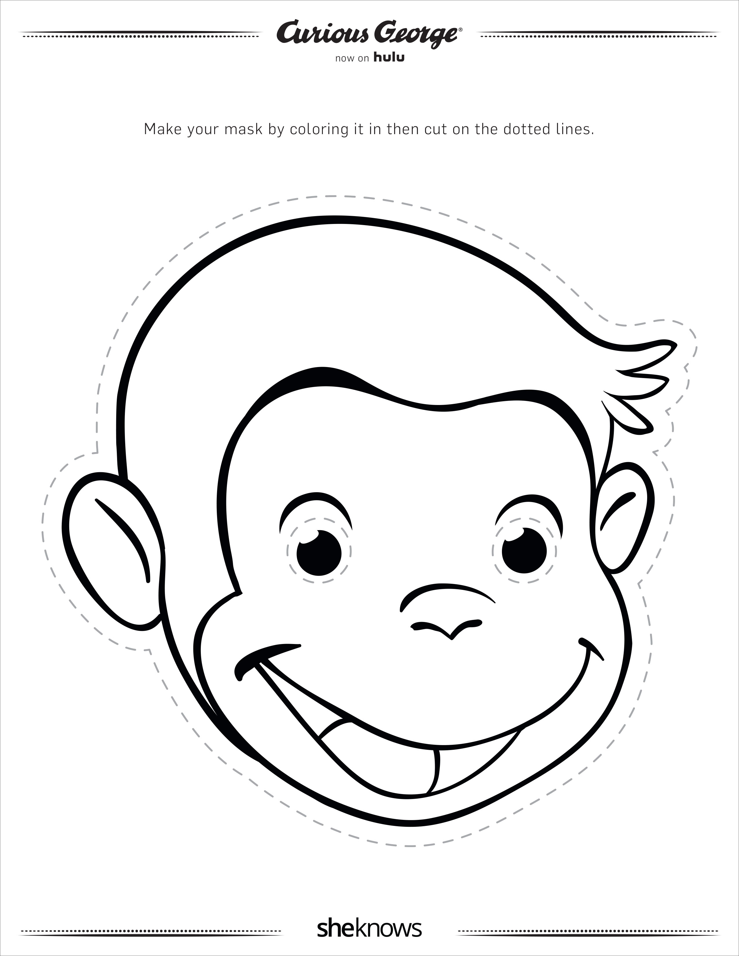 Curious George Coloring New Year Color Pages