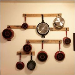 Kitchen Pot Racks Cost Of New 12 Diy Rack Projects To Save Space In Your Sheknows Wood Pallet