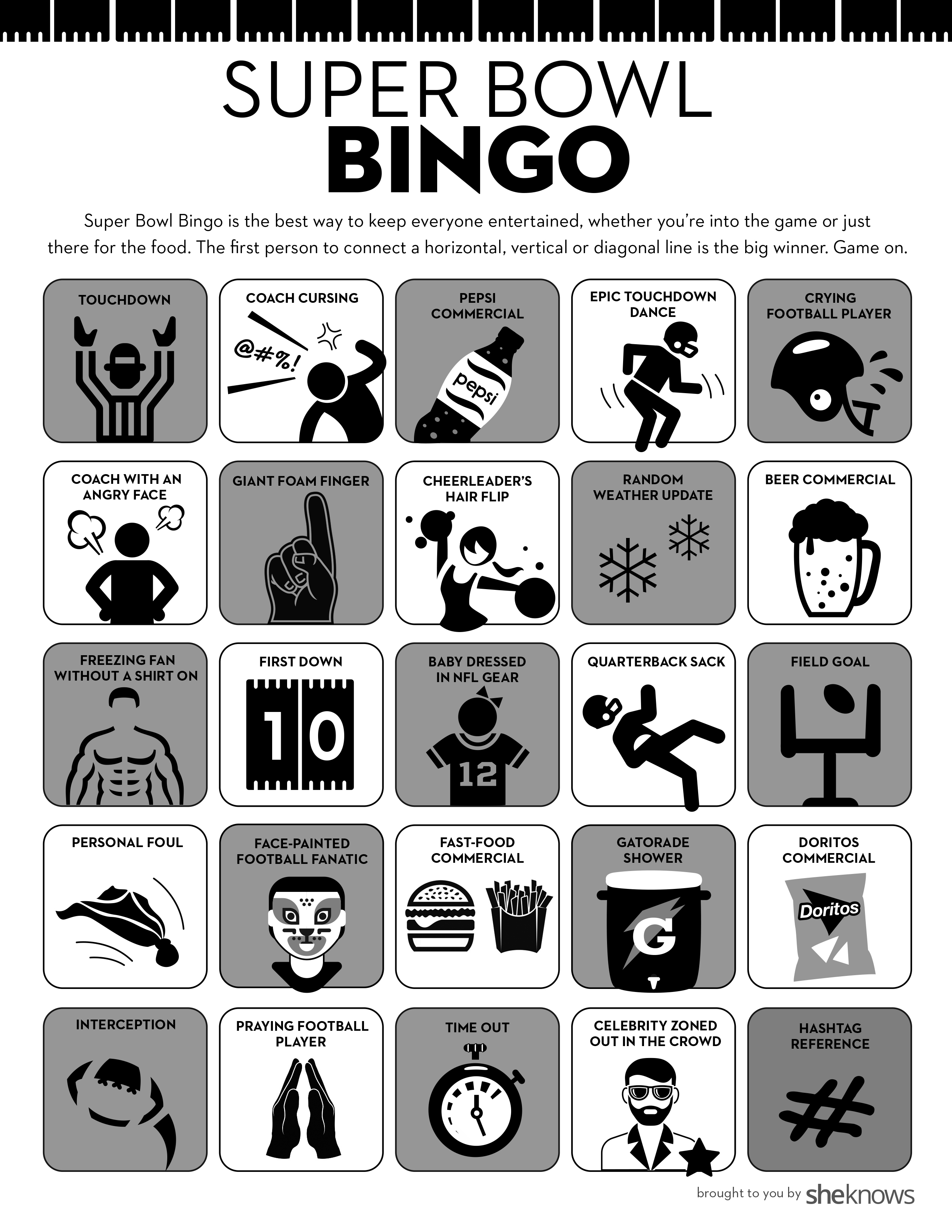 Super Bowl Bingo Is The Perfect Party Game For Everyone