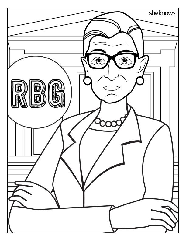 Printable Ruth Bader Ginsburg Coloring Book