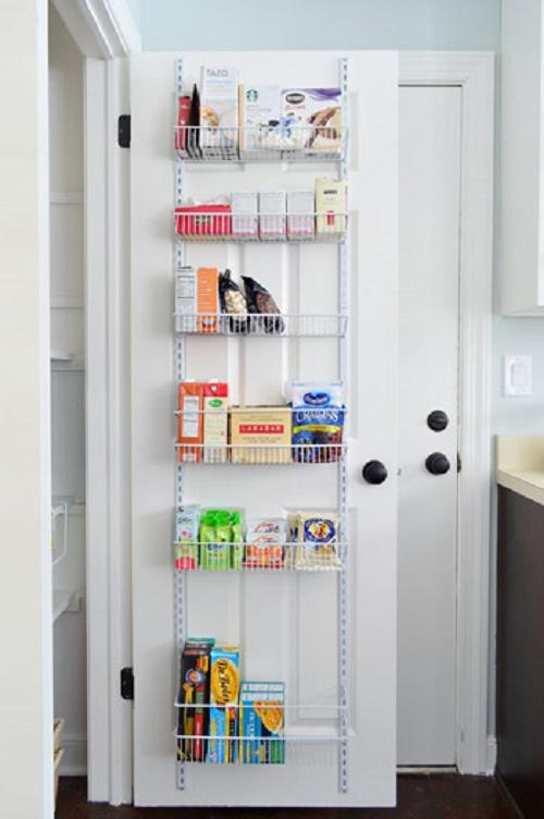 door into extra storage space