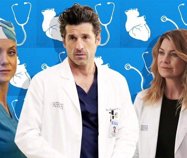 Greys Anatomy Love Triangles Image Abc Malte Mueller Getty Images Design Ashley Britton Sheknows