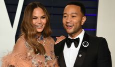 Chrissy Teigen Can't Stop Laughing at John Legend's Easter Bunny Costume