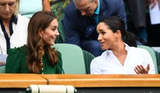 We Totally Missed This Sweet Kate Middleton & Meghan Markle Moment at Wimbledon