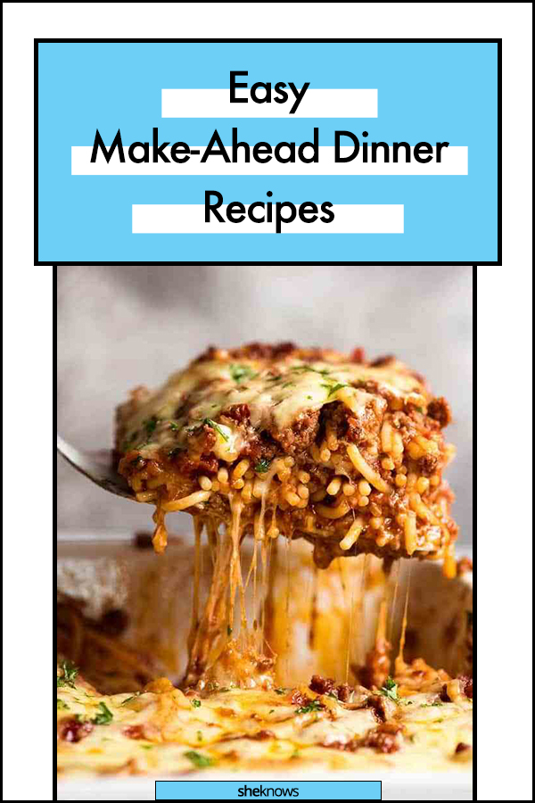 Easy Make-Ahead Dinner Recipes