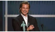 Brad Pitt Admits to Telling a White Lie During SAG Awards Acceptance Speech