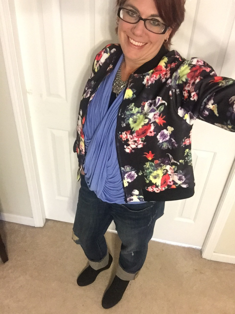Floral Bomber to Brighten a Dreary Day