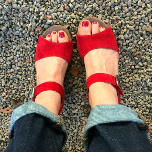 red-suede-Mephisto-sandals