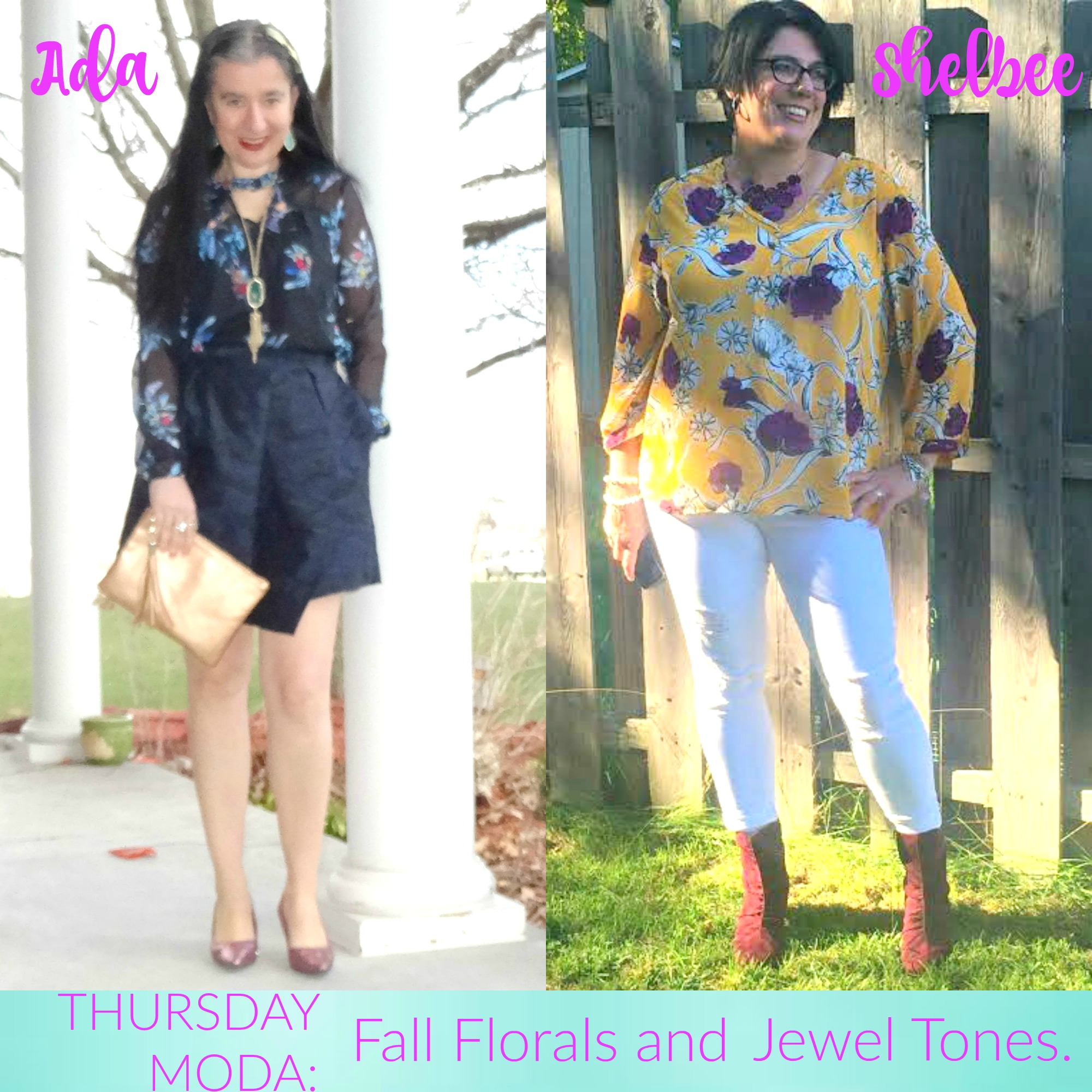 Fall Florals, Jewel Tones, and Thursday Moda Link Up
