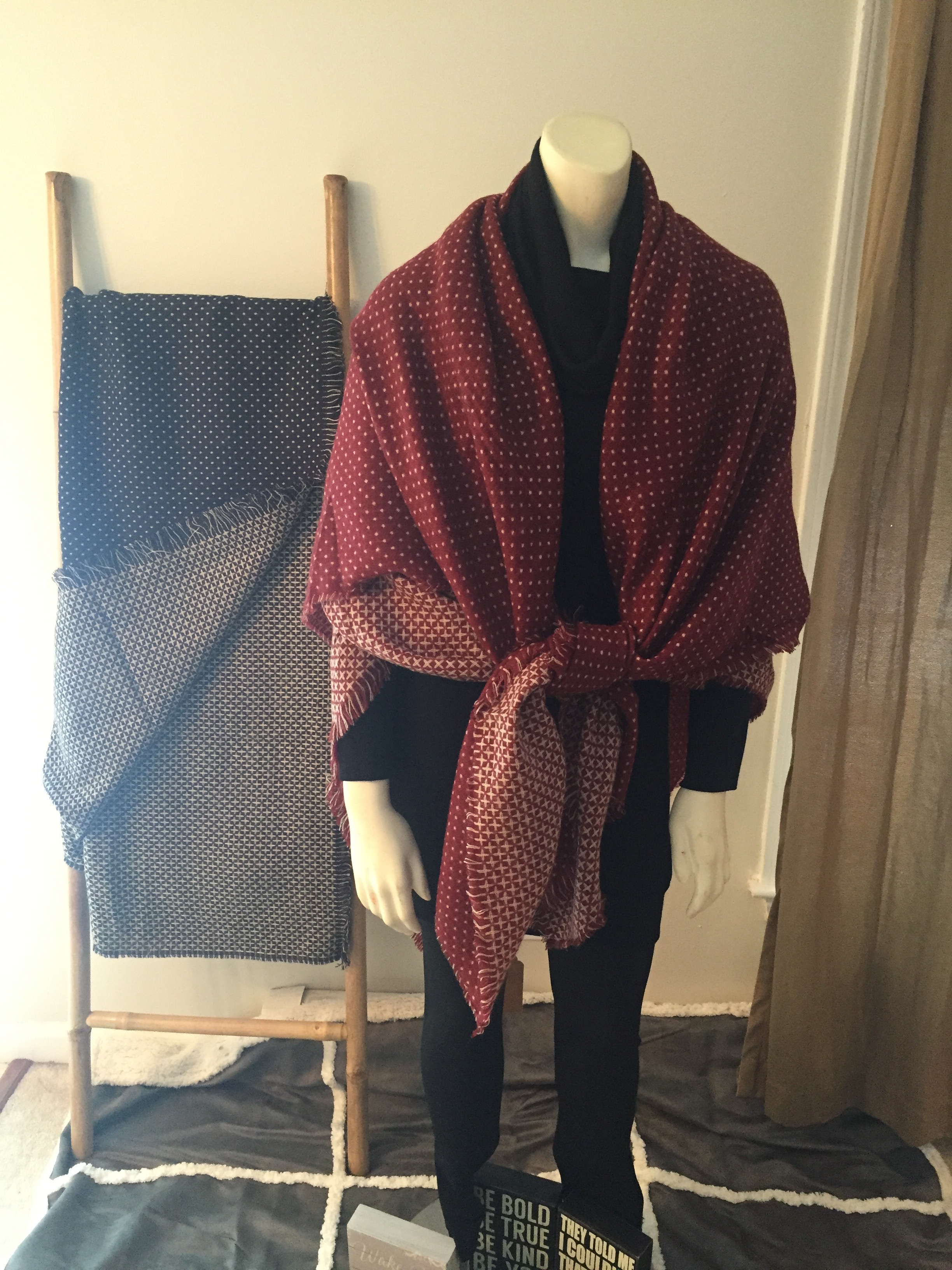 Oversized Polka Dot Blanket Scarf