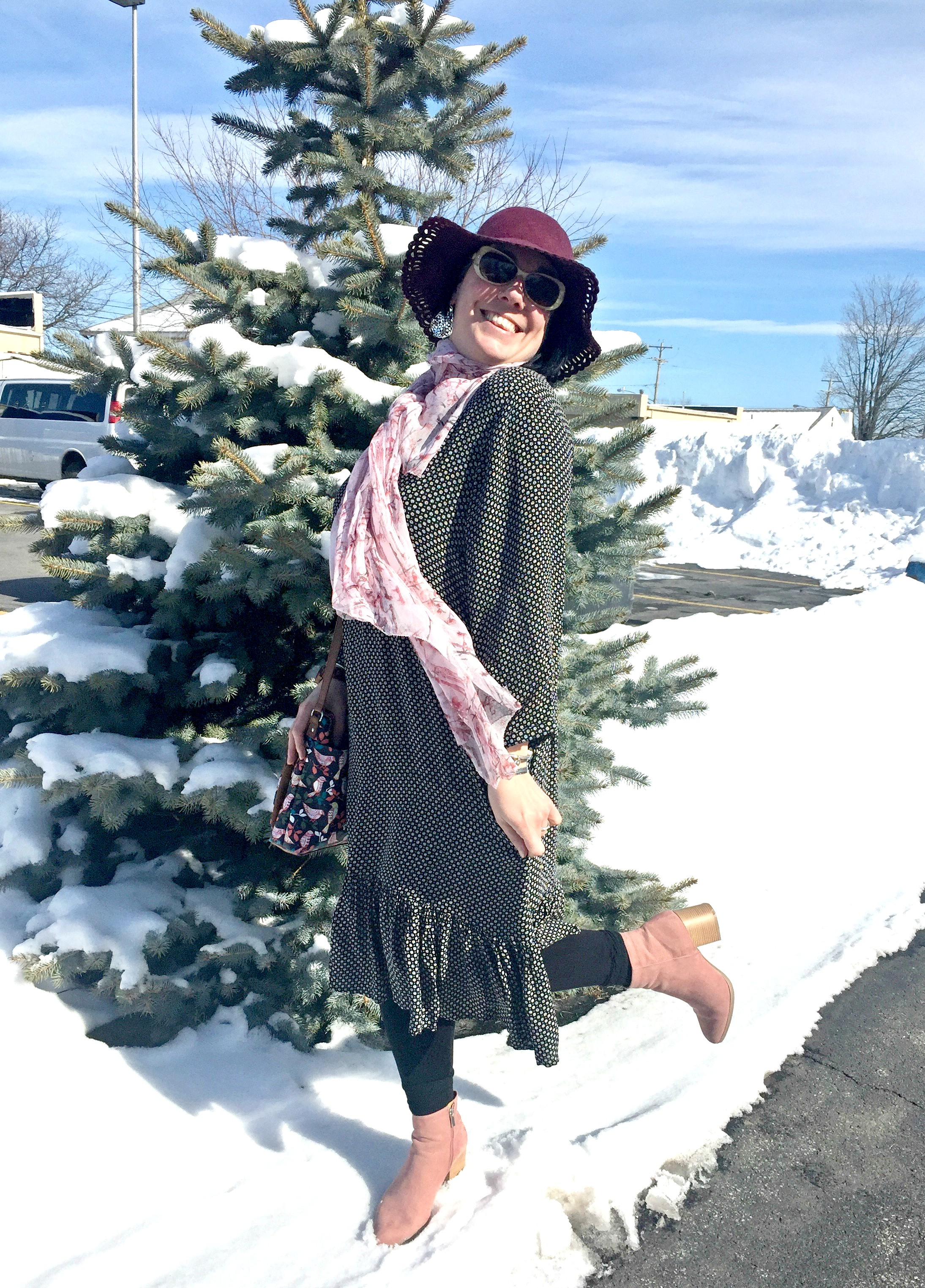 How to Transition Your Winter Wardrobe to Spring & Link Up On the Edge #33
