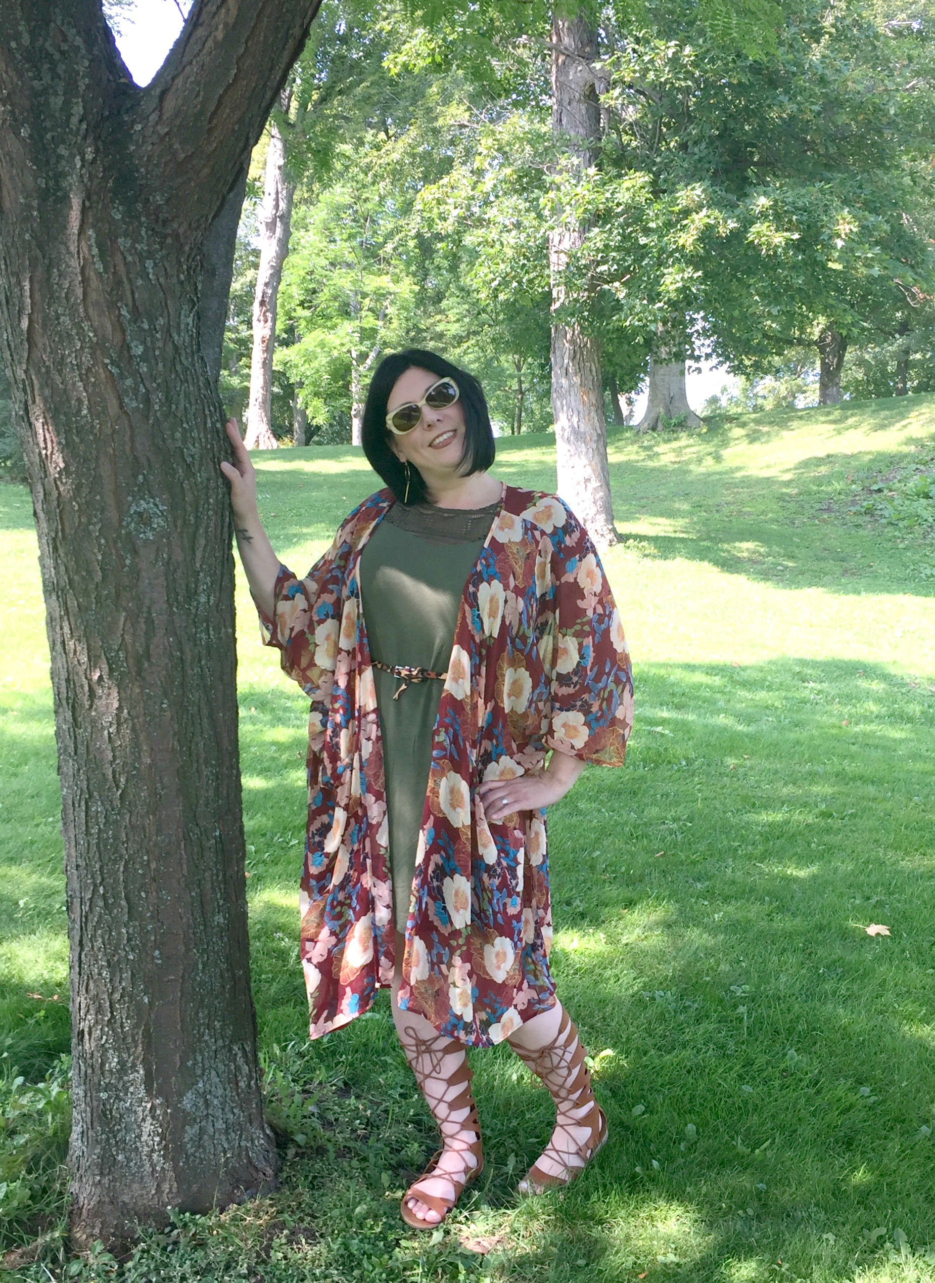 Styling a Kimono Into the Fall & Link Up On the Edge #59