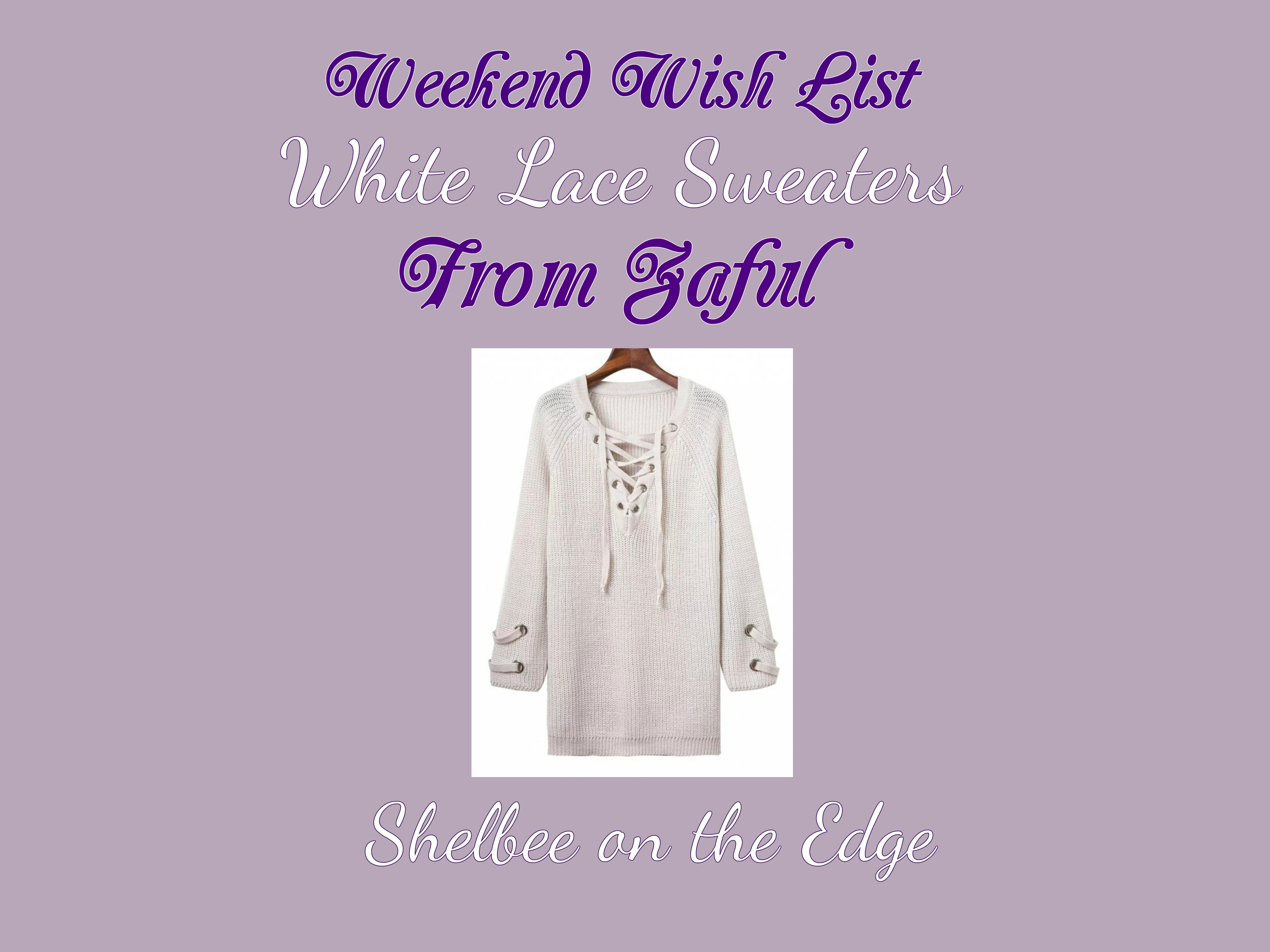 Weekend Wish List: White Lace Sweaters from Zaful