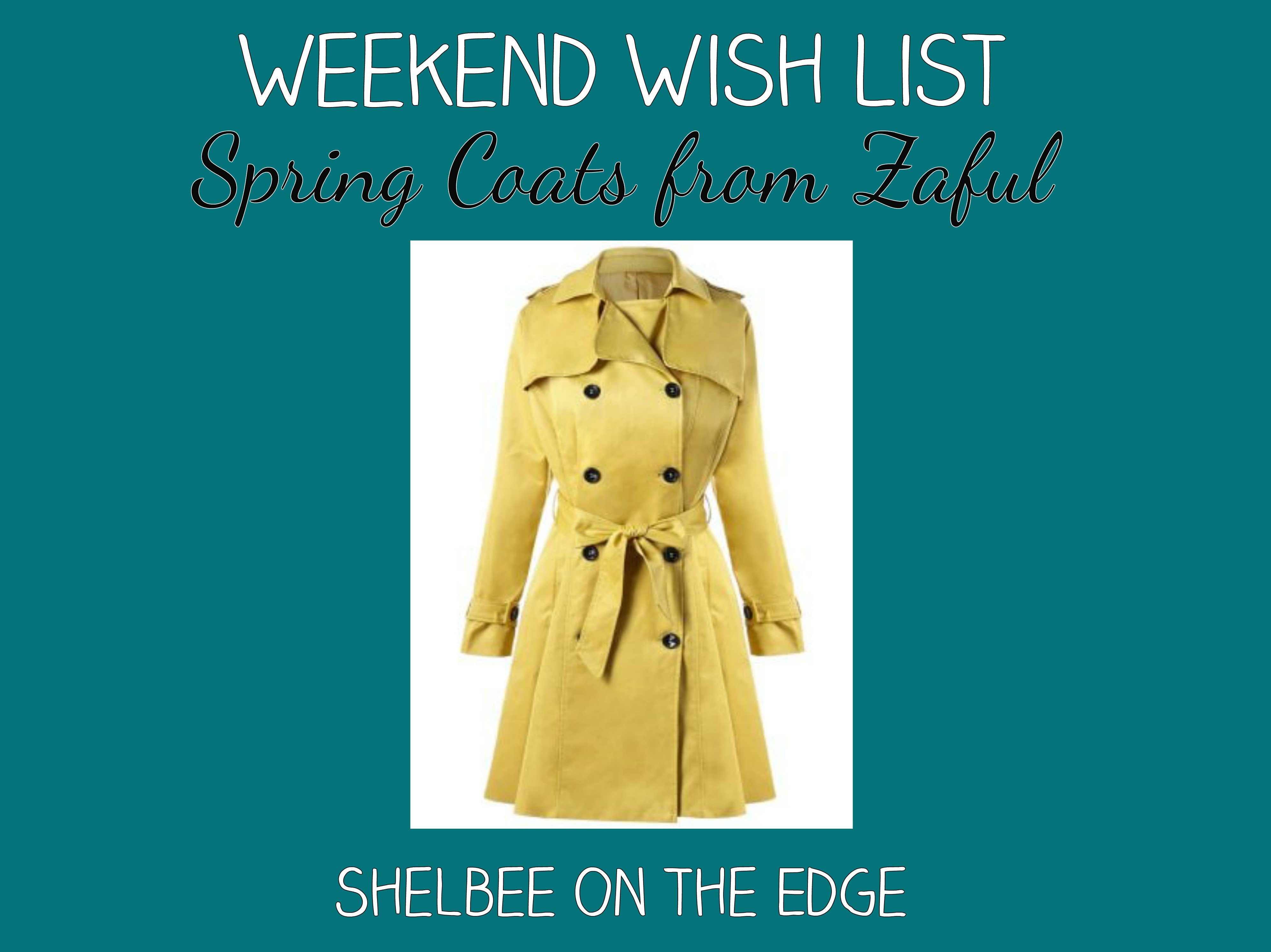 Weekend Wish List: Spring Coats from Zaful