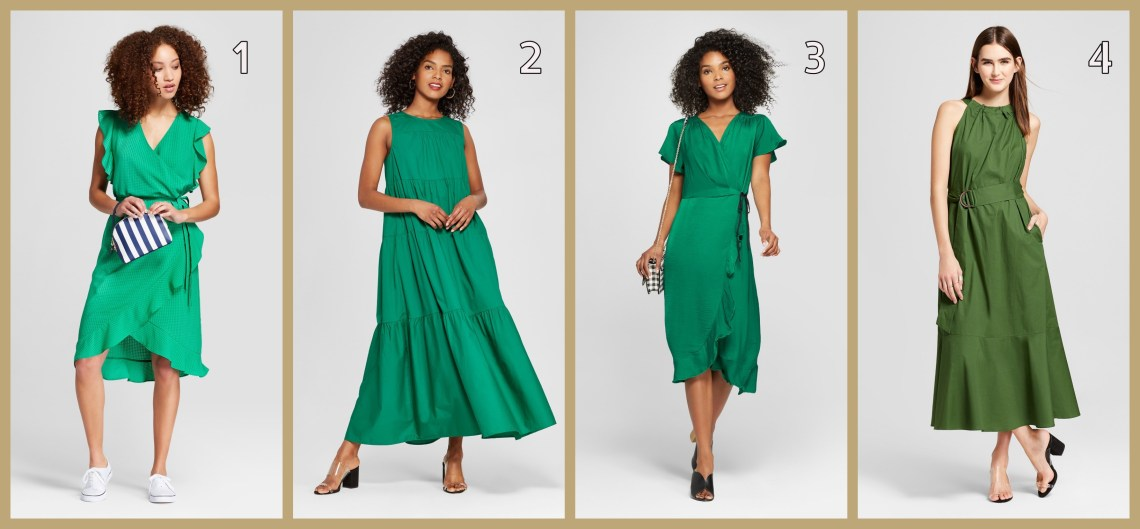 79616f293a59 Women's Short Sleeve Ruffle Wrap Dress – A New Day™ Green 2. Women's Tiered  Maxi Dress – Who What Wear™ (Available in 2 colors)