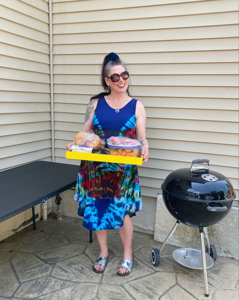 tie dye dress, backyard barbecue outfit, Stylish Monday, Shelbee on the Edge