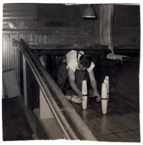 Don Emerson, Pin Boy, Shelburne Falls Bowling Alley