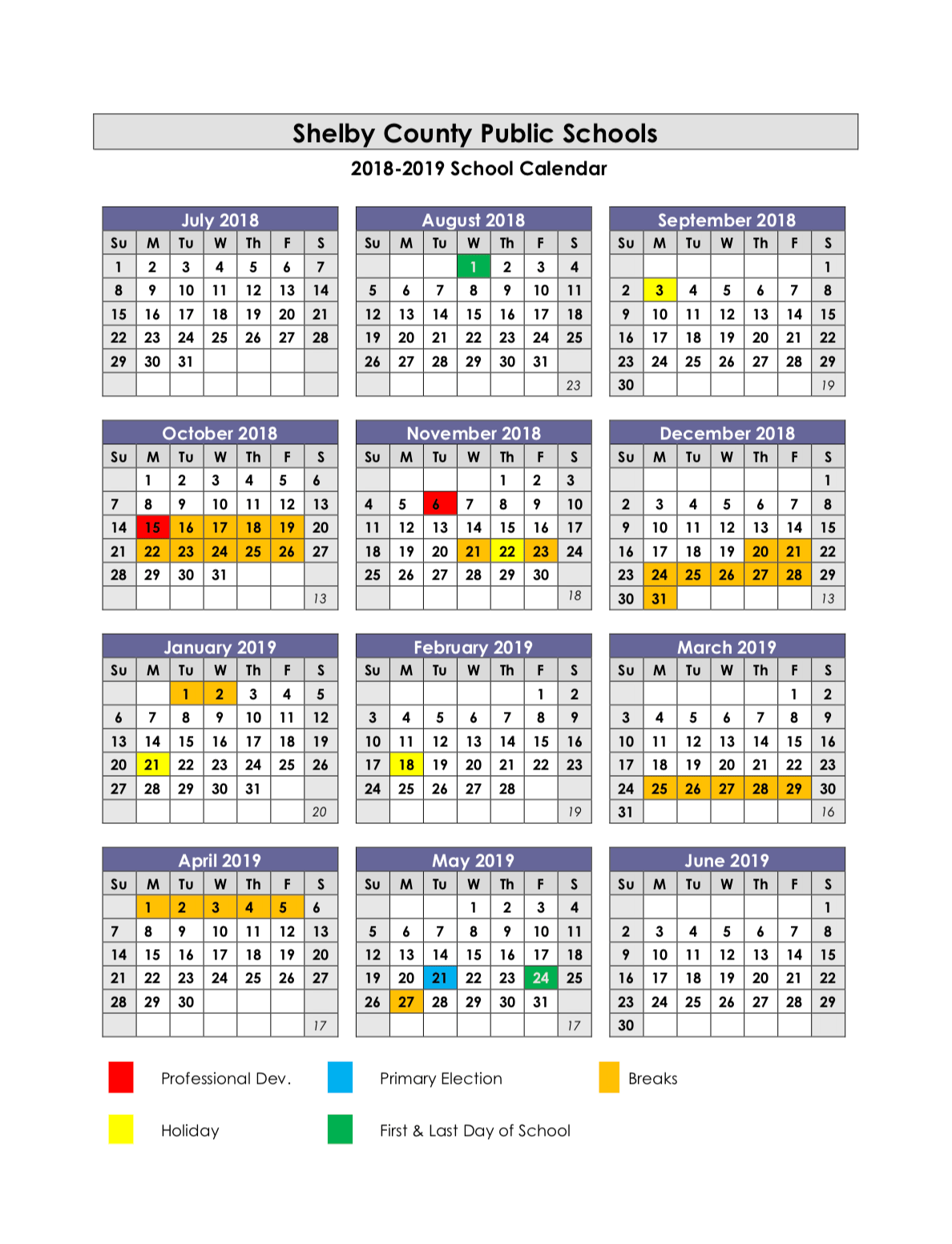 Collins High School Calendar