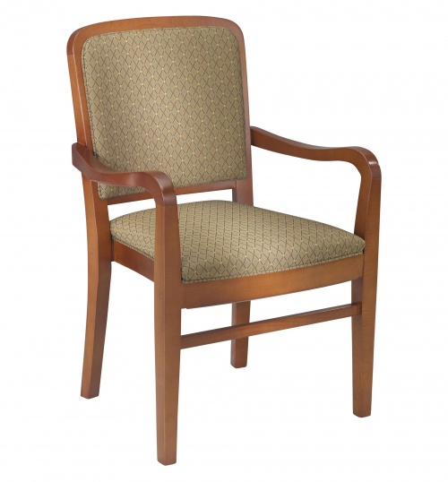 chair with arms blue accent 2760 stacking wood arm