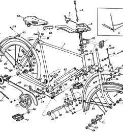 raleigh tourist dl1 exploded drawing from 1977 raleigh dealer manual [ 1000 x 835 Pixel ]