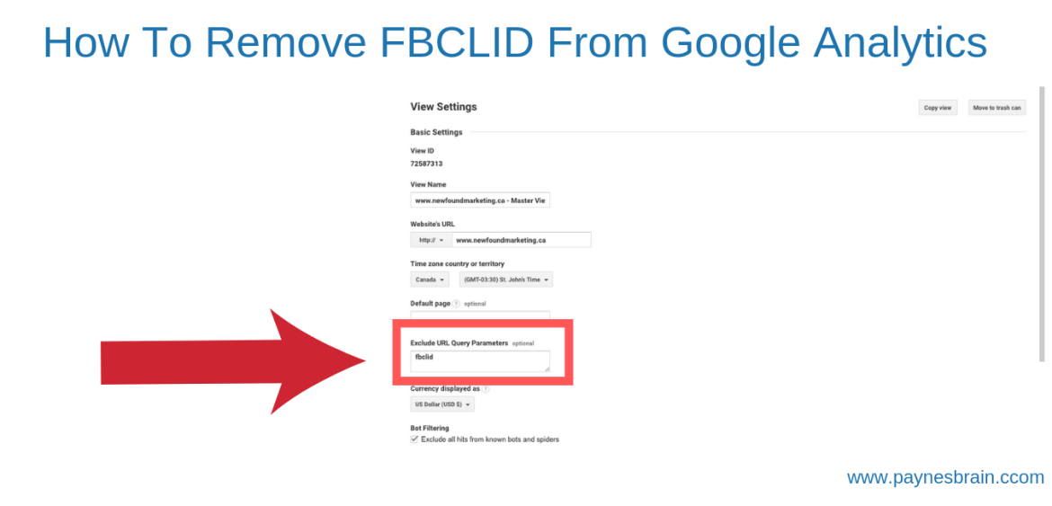 How to Remove FBCLID From Google Analytics - Step 2