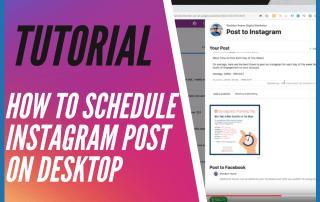 Tutorial How to Schedule Instagram Post on Desktop with Facebook Creator Studio - Sheldon Payne