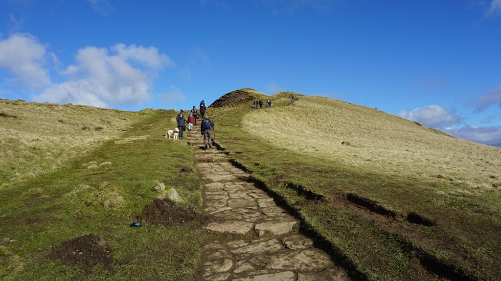 Mam Tor slab walkway steep start