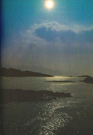 Photo of islands in the Sound of Sleat.