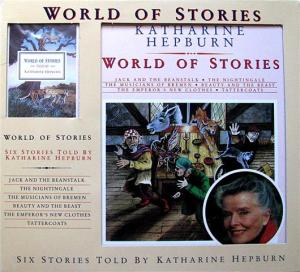 Photograph of the cover of World of Stories, traditional fairy tales retold by Katharine Hepburn